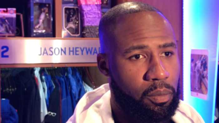 Jason Heyward on his home run in the Cubs' comeback win over the Dodgers