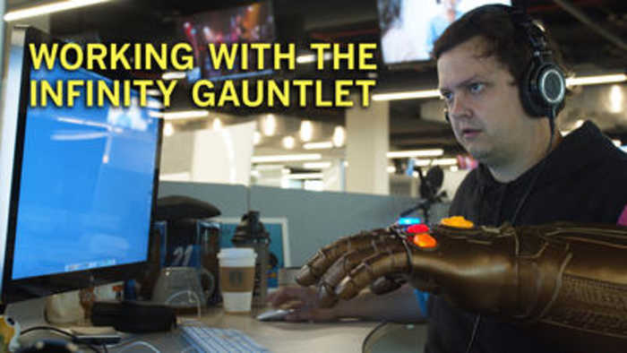 A day in the life of Thanos, wearing the Infinity Gauntlet
