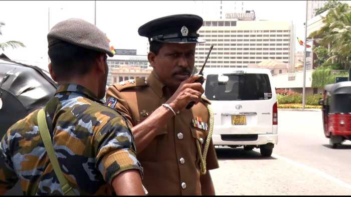 Sri Lanka police and security hunts for bombing suspects