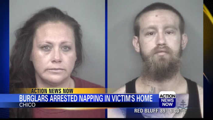 Chico woman catches suspected burglars napping in neighbor's home