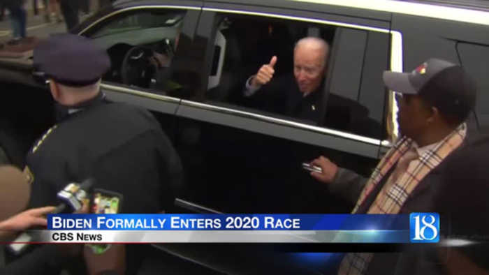 Joe Biden launches 2020 presidential bid