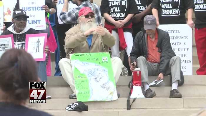Flint protesters gather and mark fifth anniversary of city's water crisis