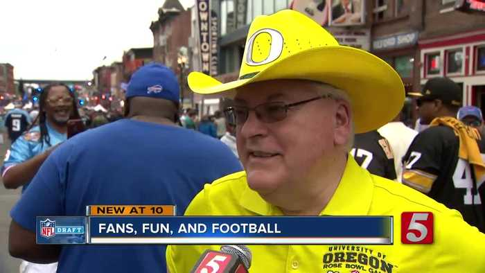Music City gives fans a good time at the NFL Draft