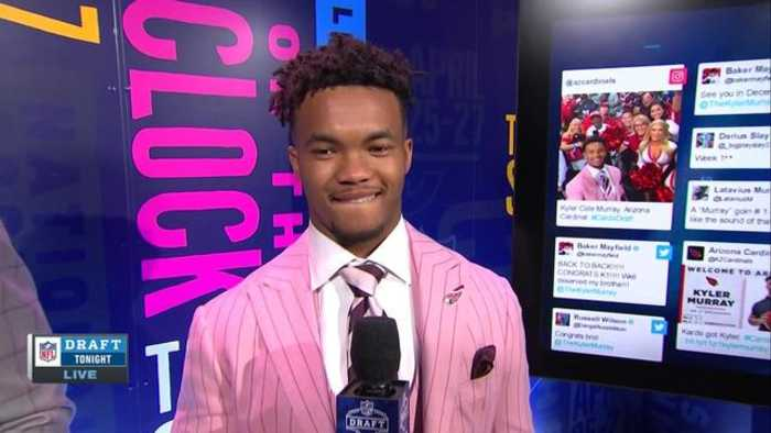 Oklahoma quarterback Kyler Murray describes the reactions he's received since draft selection
