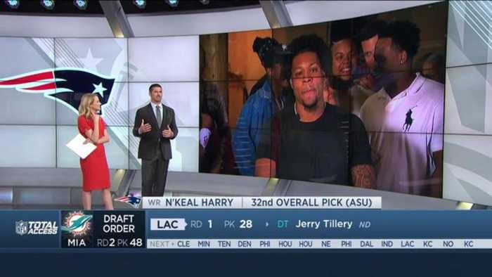 Arizona State wide receiver N'Keal Harry describes life-changing phone call with head coach Belichick, New England Patriots