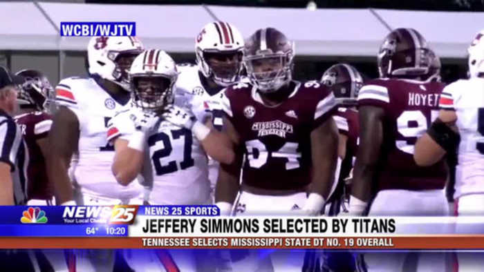 Mississippi State DT Jeffrey Simmons selected by Tennessee Titans