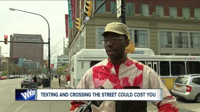 WKBW Texting and Walking law proposal