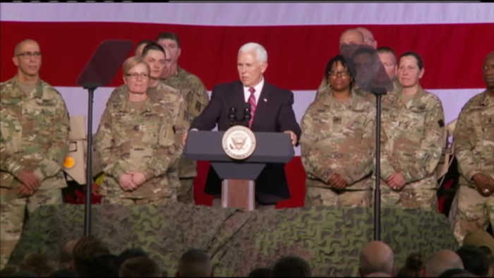 Vice President Mike Pence visits Fort McCoy