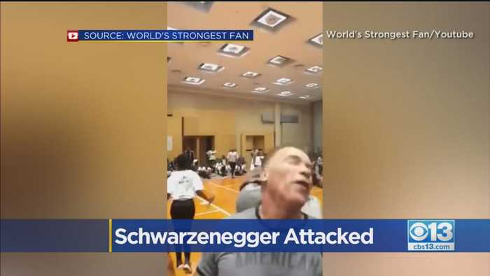 Arnold Schwarzenegger got kicked in the back while he was in South Africa