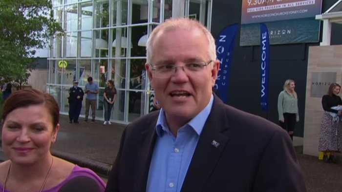 Australia election: Scott Morrision reacts to shock win