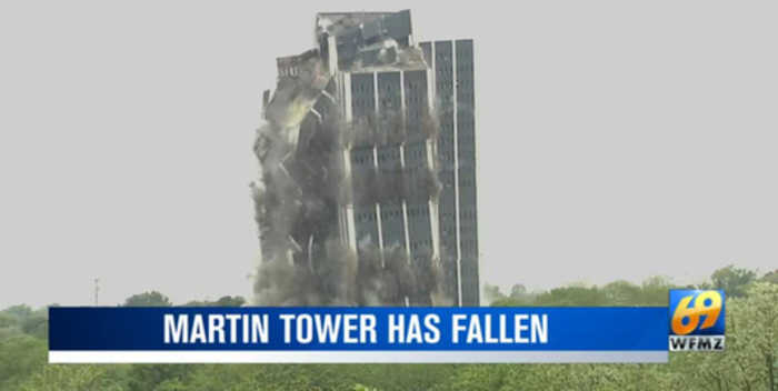 Martin Tower aftermath