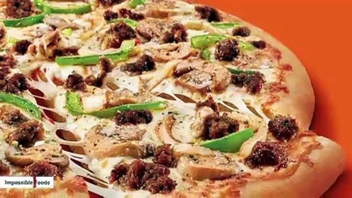 Little Caesars Unveils Impossible Pizza Using Meatless Sausage