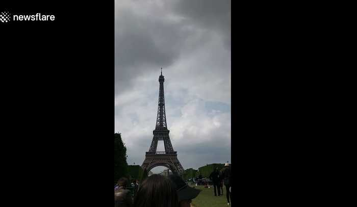 Eiffel Tower evacuated after man seen climbing up the French landmark