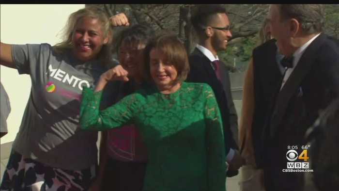 Nancy Pelosi Receives Profile In Courage Award At JFK Library