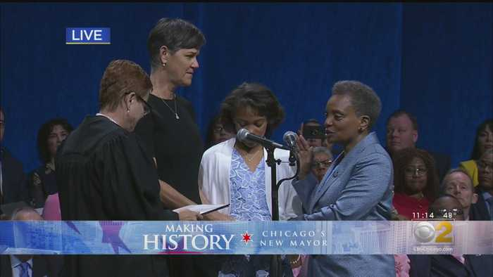 Lori Lightfoot Sworn In As Chicago's Mayor