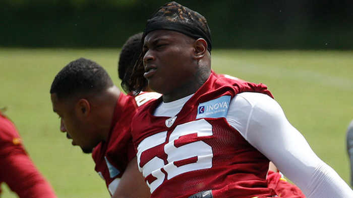 Washington Redskins linebacker Reuben Foster believed to have suffered torn ACL at Redskins OTAs