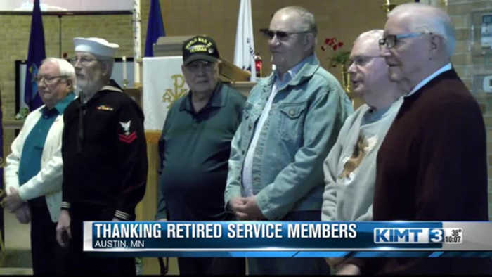 Thanking retired service members