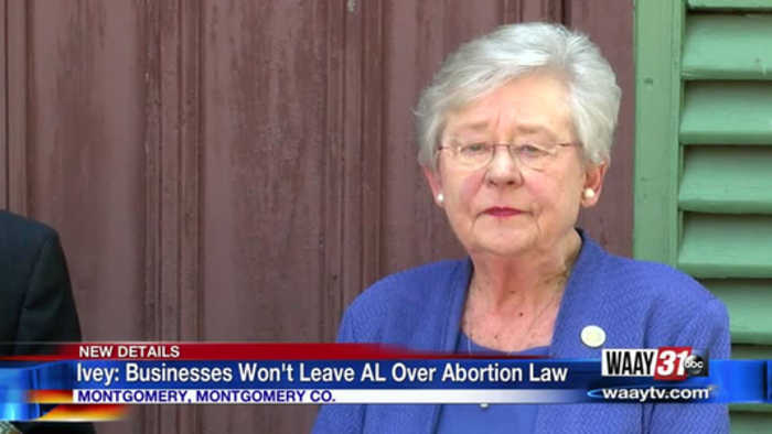 Ivey: Businesses Won't Leave AL Over Abortion Law