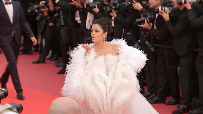 Cannes 2019: Aishwarya looks stunning in white feathered, tulle dress