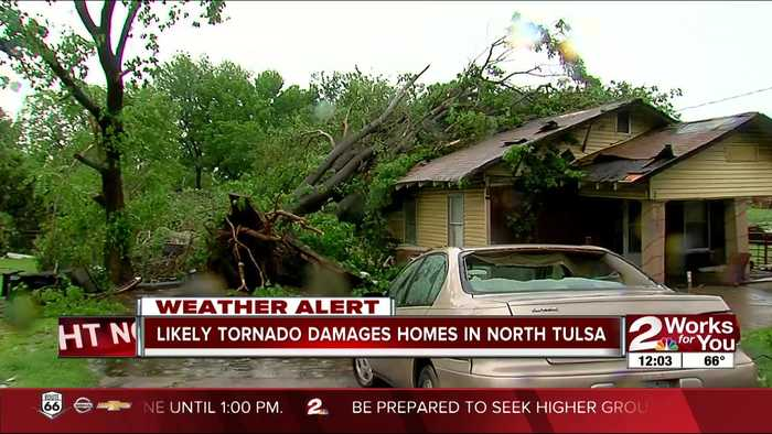 North Tulsa residents cleaning up after storm damage