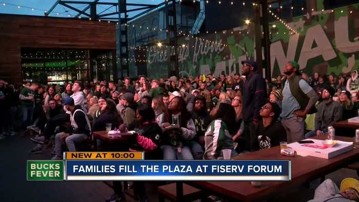 Fans make Game 4 watch party at the Deer District a family affair