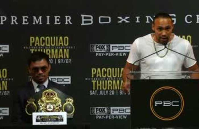 Pacquio will 'disappear', says his next opponent Keith Thurman