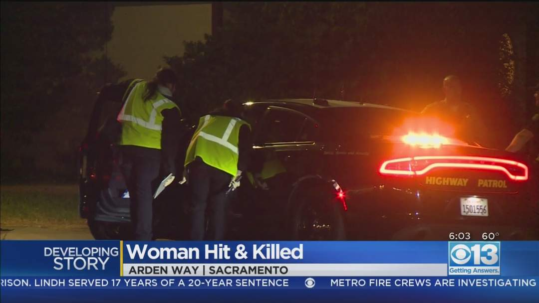CHP: Woman Pushing Shopping Cart On Arden Way Struck, Killed By DUI Suspect