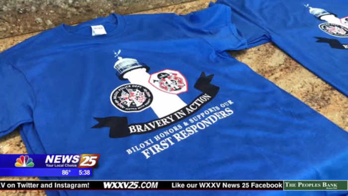 Biloxi Main Street selling shirts to benefit Officer McKeithen's family
