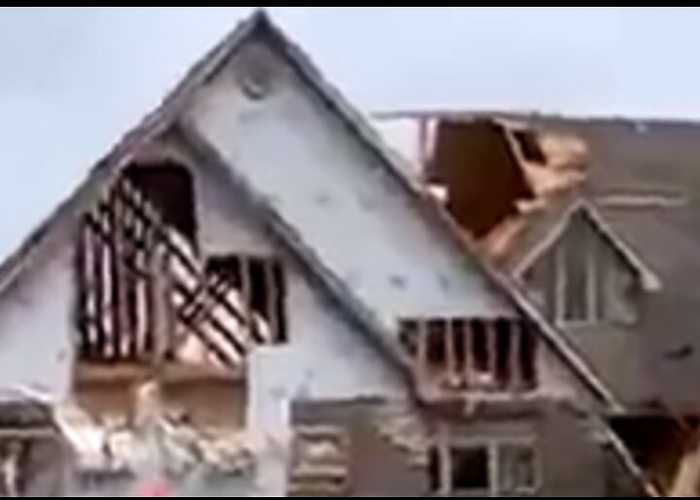 Houses Wrecked by Storms in Western Missouri