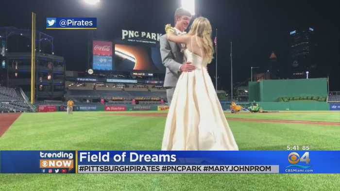 Couple Can't Attend Prom, Celebrate It At Baseball Game Instead