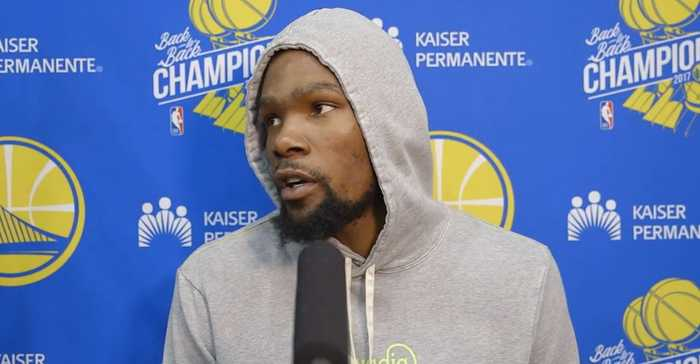 WARRIORS: Kevin Durant on his injury, social media and outside talk that team is better without him