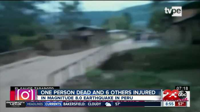 Magnitude 8 earthquake strikes Peru, kills one person