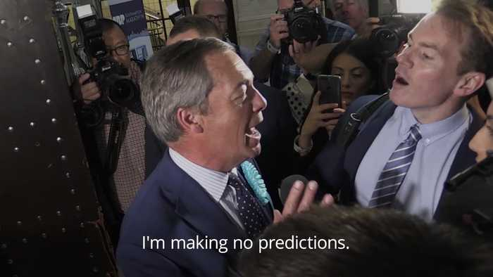 Nigel Farage 'pleased' as the Brexit Party looks set to win big in EU elections