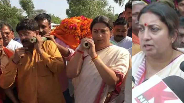 Smriti Irani takes Oath to bring justice to Amethi BJP Worker Surendra Singh's Family |Oneindia News