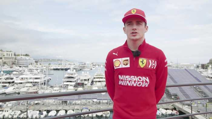 Charles Leclerc at home in Monaco