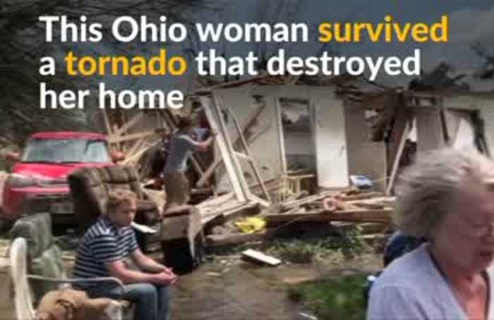 Ohio woman survives tornado that destroyed her house