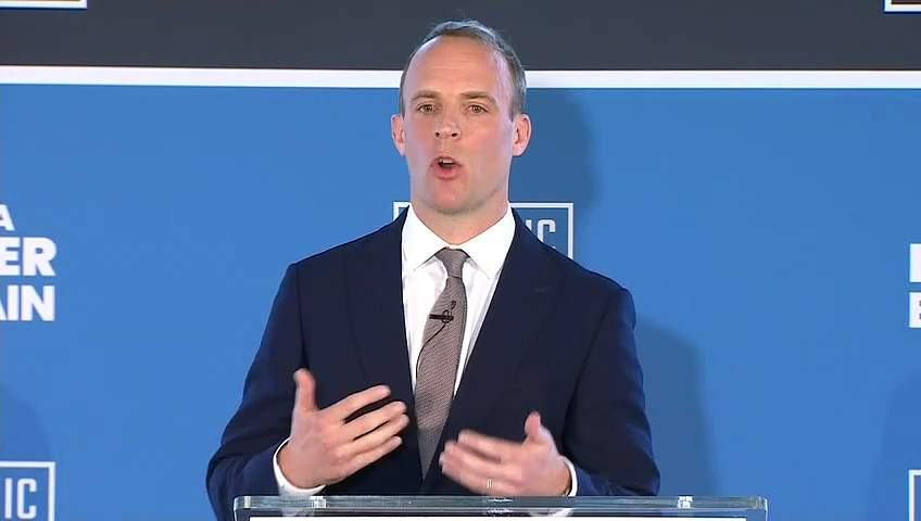 Dominic Raab launches his Tory leadership campaign