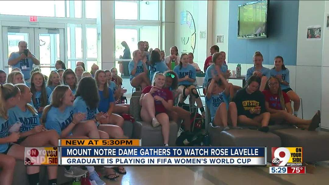 Mount Notre Dame cheers grad Rose Lavelle in Women's World Cup