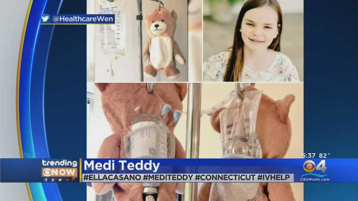 Young Girl Invents 'Medi Teddy' To Disguise IV Machines