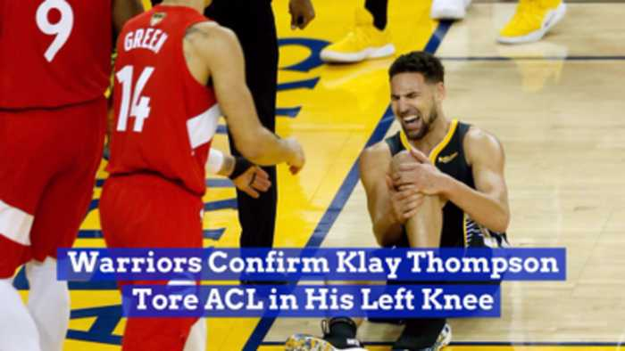 Klay Thompson Got Hurt In The NBA Finals