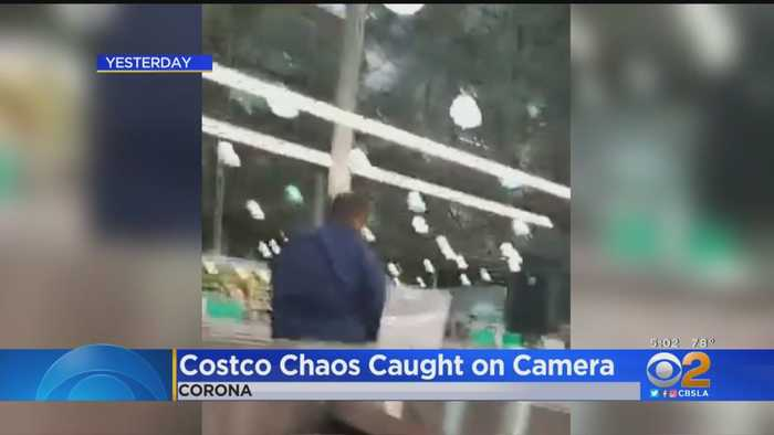 Woman Captures Chaos Inside Costco On Cellphone Video