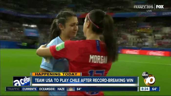 Team USA to play Chile after record-breaking win