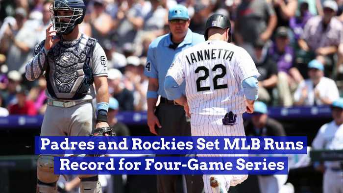 Padres and Rockies Set MLB Runs Record for Four-Game Series