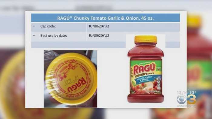 Owner Of Ragu Recalls Some Jars Of Pasta sauce