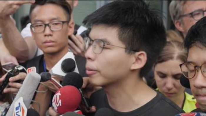 Umbrella Movement leader released from prison to join Hong Kong protests