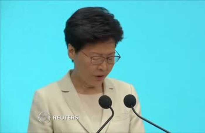 Hong Kong leader says sorry again after protests
