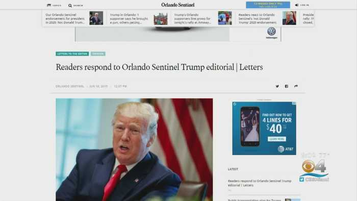 Orlando Sentinel Won't Endorse The President Regardless Of Opponent