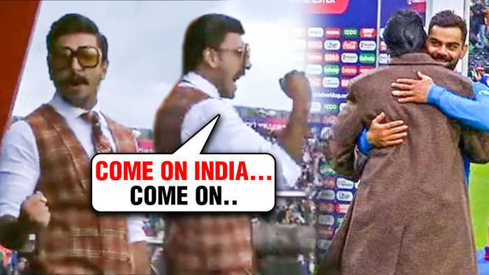 Ranveer Singh ENERGETIC Cheer For Team India VS Pakistan At World Cup 2019, England
