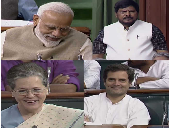 Ramdas Athawale's Speech gets PM Modi, Rahul Sonia Gandhi to smile in Parliament | Oneindia News