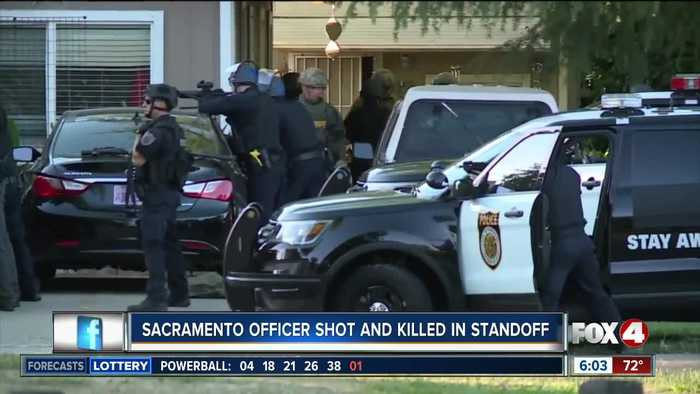Sacramento officer shot and killed in standoff